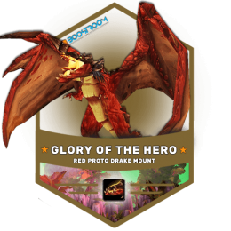 wow hero glory boost, red proto drake carry