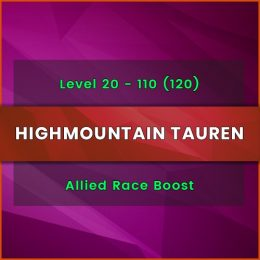 Highmountain Tauren allied race carry, Highmountain Tauren allied race boost