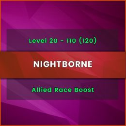 allied race nightborne level boost, allied race nightborne level carry