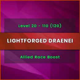 buy wow lightforged draenei allied race level boost, buy wow lightforged draenei allied race level carry