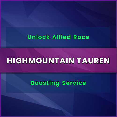 buy highmountain tauren allied race unlock boost, buy highmountain tauren allied race unlock carry