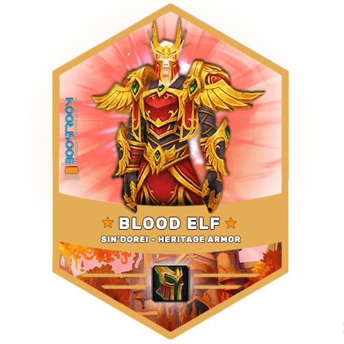 wow blood elf heritage armor boost, wow blood elf heritage armor carry