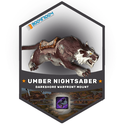 wow captured umber nightsaber mount boost, wow captured umber nightsaber mount carry