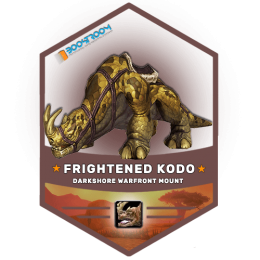 wow frightened kodo mount boost, wow frightened kodo mount carry