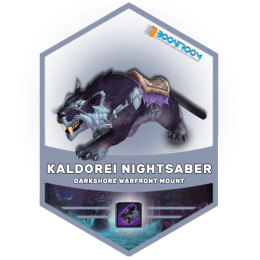 wow kaldorei nightsaber mount boost, wow kaldorei nightsaber mount carry