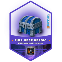 eternal palace full gear boost, eternal palace full gear carry, aep heroic gear